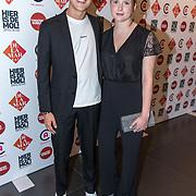 NLD/Amsterdam/20190919 - Premiere Show Johnny de Mol, Julian Vahle met zijn zusje Noa Vahle