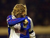 Photo: Chris Ratcliffe.<br />Arsenal v Blackburn Rovers. The Barclays Premiership.<br />26/11/2005.<br />Robbie Savage can't look as Blackburn lose