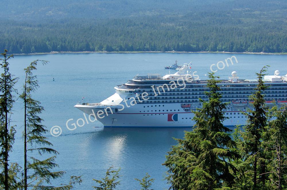 Cruise Ship Docked Along Front Street
