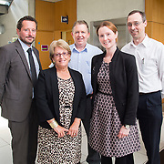 28/08/2015             <br /> Pharmaceutical Manufacturing Technology Centre (PMTC) Knowledge day at the Kemmy Business School, University of Limerick.    <br />   Pictured at the event were, Prof. Gavin Walker, Bernal Chair of Pharmaceutical Powder Eng., Sue Fleet, Britest, Liam Tully, Pfizer, Denise Croker, UL and Steve Jeffrey, Eli Lilly. Picture: Alan Place
