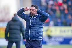 Falkirk's manager Paul Hartley. Falkirk 6 v 1 Dundee United, Scottish Championship game played 6/1/2018 played at The Falkirk Stadium.