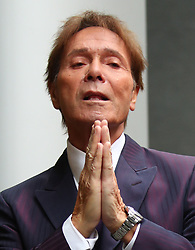 File photo dated 12/4/2018 of Sir Cliff Richard arriving at the Rolls Building in London during his continuing legal action against the BBC over coverage of a police raid at his apartment in Berkshire in August 2014.