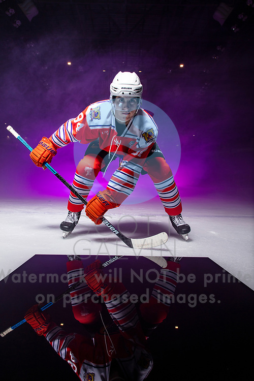 Youngstown Phantoms player photo shoot on January 6, 2020.<br /> <br /> Reilly Funk, forward, 94
