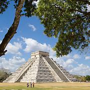 Temple of Kukulcan in Chichen Itza. Yucatan, Mexico.