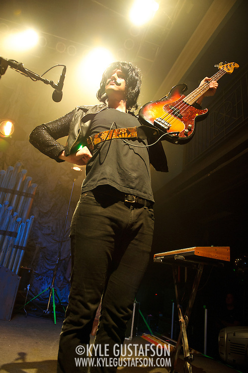 WASHINGTON, DC - October 31st, 2011 - Dallon Weekes of Panic! at the Disco performs in costume during their Halloween show at the 9:30 Club in Washington, D.C. (Photo by Kyle Gustafson/For The Washington Post)