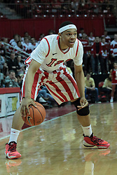 15 February 2014:  Zach Lofton during an NCAA Missouri Valley Conference (MVC) mens basketball game between the Bradley Braves and the Illinois State Redbirds  in Redbird Arena, Normal IL.