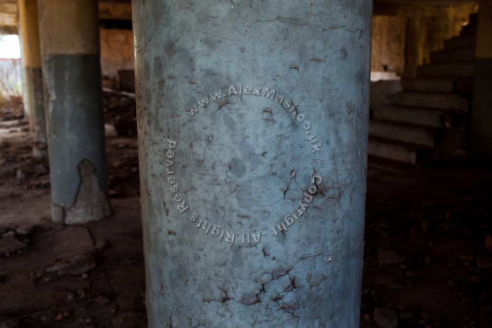 The Union Carbide (now DOW Chemical) industrial complex is lying abandoned in Bhopal, Madhya Pradesh, India.