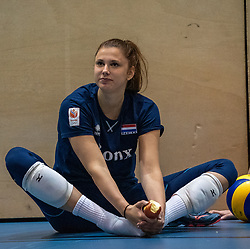 14-05-2019 NED: Training national volleyball team Women, Arnhem<br /> Dutch volleyball team women starts the training yesterday. There is a tough program ahead this summer. They starts with group matches of the VNL, then OKT in Catania in Italy, Worldcup in Japan and the European Championship played in Hungary / Juliët Lohuis #7 of Netherlands