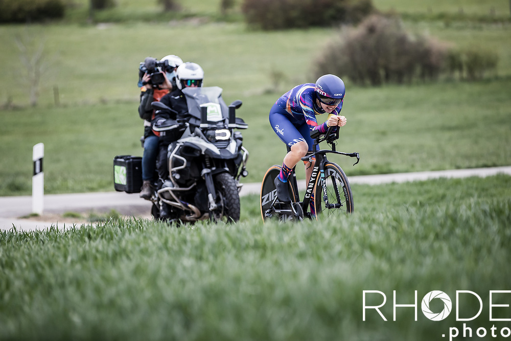 Ella Harris (NZL/Canyon Sram)<br /> <br /> Ceratizit Festival Elsy Jacobs (LUX) 2021<br /> UCI Women Elite 2.1<br /> Day 1 - prologue : Individual Time Trial (ITT) – Cessange (LUX) 2.2km <br /> <br /> ©RhodePhoto