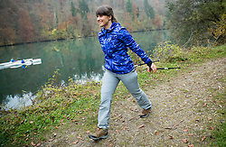 Lidlova Vitalnica nordijske hoje z osebno trenerko Hano Verdev.<br /> // Hana Verdev, Personal Trainer during presentation of Nordic Walking, on November 2, 2016 in Zbilje, Slovenia. Photo by Vid Ponikvar / Sportida