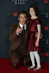 Chris Pine and Josie O Brein at the Scottish premiere of Outlaw King at the Vue Omni in Edinburgh.