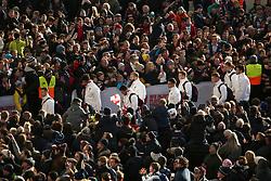 England's playerss arrive before the Autumn International at Twickenham Stadium, London.
