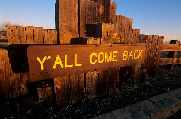 Sign leaving Palo Duro Canyon