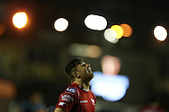 Steffan Evans of Scarlets looks on. Guinness Pro12 rugby match, Cardiff Blues v Scarlets at the BT Cardiff Arms Park in Cardiff, South Wales on Friday 28th October 2016.<br /> pic by Andrew Orchard, Andrew Orchard sports photography.