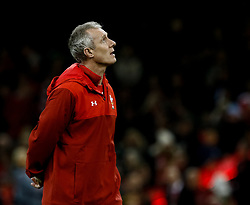 Rob Howley Attack Coach of  Wales <br /> <br /> Photographer Simon King/Replay Images<br /> <br /> Under Armour Series - Wales v Australia - Saturday 10th November 2018 - Principality Stadium - Cardiff<br /> <br /> World Copyright © Replay Images . All rights reserved. info@replayimages.co.uk - http://replayimages.co.uk