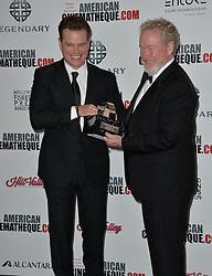 Matt Damon & Ridley Scott bei der 30th Annual American Cinematheque Awards Gala im Press Room in Beverly Hills / 141016