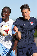 24 May 2014: USA Under-20's Andrija Novakovich (right). The Under-20 United States Men's National Team played a scrimmage against the Wilmington Hammerheads at Dail Soccer Field in Raleigh, North Carolina. Wilmington won the game 4-2.