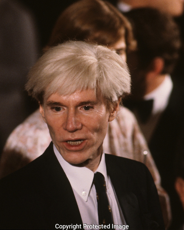 Artist Andy Warhol at an event at the White House in June 1981..Photograph by Dennis Brack bb23