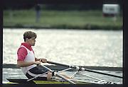 Henley on Thames. United Kingdom. Rorie HENDERSON, Diamond Challenge Sculls, 1990 Henley Royal Regatta, Henley Reach, River Thames. 06/07.1990<br /> <br /> [Mandatory Credit; Peter SPURRIER/Intersport Images] 1990 Henley Royal Regatta. Henley. UK