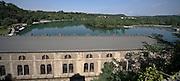 Il fiume Adda davanti alla centrale idroelettrica Taccani a Trezzo...Adda river in front of hydroelectric plant Taccani in Trezzo.