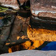 USA, California, Joshua Tree National Park, Rock formations.