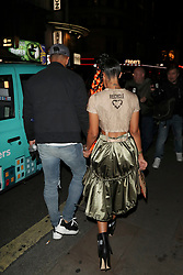 Tiger Lily Hutchence at Moschino party at Cafe de Paris in London. Also pictured : Leigh-Anne Pinnock of Little Mix. 14 Sep 2017 Pictured: Leigh-Anne Pinnock. Photo credit: MEGA TheMegaAgency.com +1 888 505 6342