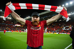 LIVERPOOL, ENGLAND - Wednesday, March 11, 2020: Liverpool's supporter WWE Sheamus before the UEFA Champions League Round of 16 2nd Leg match between Liverpool FC and Club Atlético de Madrid at Anfield. (Pic by David Rawcliffe/Propaganda)