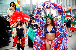 © Licensed to London News Pictures. 23/05/2015. Birmingham, UK. The Birmingham Gay Pride Parade 2015 takes place on New Street in Birmingham on Saturday 23 May 2015. Photo credit : Tolga Akmen/LNP