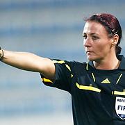 Referee's Tanja SCHETT during their UEFA 2013 Woman's Euro Qualifying Group Stage Group 2 soccer match Turkey betwen Spain at Kasimpasa Recep Tayyip Erdogan stadium in Istanbul September 17, 2011. Photo by TURKPIX