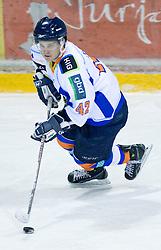 Dejan Zemva of Triglav at SLOHOKEJ league ice hockey match between HK Slavija and HK Triglav Kranj, on February 3, 2010 in Arena Zalog, Ljubljana, Slovenia. Triglaw won 4:1. (Photo by Vid Ponikvar / Sportida)