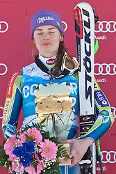 04.03.2011, Pista di Prampero, Tarvis, ITA, FIS Weltcup Ski Alpin, Supercombi der Damen, im Bild Podium Tina Maze (SLO, Platz 1) // podium Tina Maze (SLO, place 1) // during Ladie's Supercombi FIS World Cup Alpin Ski in Tarvisio Italy on 4/3/2011. EXPA Pictures © 2011, PhotoCredit: EXPA/ J. Groder