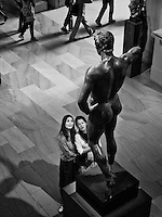 Bronze statue of a man, Greek, Hellenistic, mid 2nd-1st century B.C.