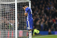Diego Costa of Chelsea reacts after missing a chance to score. Premier league match, Chelsea v Stoke city at Stamford Bridge in London on Saturday 31st December 2016.<br /> pic by John Patrick Fletcher, Andrew Orchard sports photography.