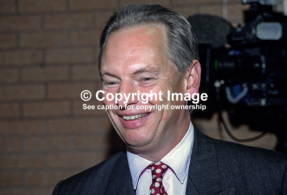Francis Maude, MP, Conservative Party, 199810206.<br /> <br /> Copyright Image from Victor Patterson, Belfast, UK<br /> <br /> t: +44 28 9066 1296 (from Rep of Ireland 048 9066 1296)<br /> m: +44 7802 353836<br /> e: victorpattersonbelfast@gmail.com<br /> <br /> www.images4media.com<br /> <br /> Please see my full Terms and Conditions of Use at https://www.images4media.com/p/terms-conditions - it is IMPORTANT that you familiarise yourself with them.<br /> <br /> Images used online incur an additional cost. This cost should be agreed in writing in advance. Online images must be visibly watermarked i.e. © Victor Patterson or that of the named photographer within the body of the image. The original metadata must not be deleted from images used online.<br /> <br /> This image is only available for the use of the download recipient i.e. television station, newspaper, magazine, book publisher, etc, and must not be passed on to a third party. It is also downloaded on condition that each and every usage is notified within 7 days to victorpattersonbelfast@gmail.com.<br /> <br /> The right of Victor Patterson (or the named photographer) to be identified as the author is asserted in accordance with The Copyright Designs And Patents Act (1988). All moral rights are asserted.