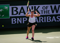 March 7, 2019 - Indian Wells, USA - Madison Brengle of the United States in action during the first round of the 2019 BNP Paribas Open WTA Premier Mandatory tennis tournament (Credit Image: © AFP7 via ZUMA Wire)