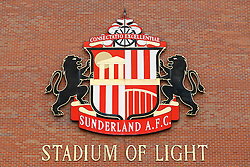 A General View of a Sunderland club crest outside the Stadium of Light  - Photo mandatory by-line: Rogan Thomson/JMP - 07966 386802 - 27/08/2014 - SPORT - FOOTBALL - Sunderland, England - Stadium of Light - Sunderland v Swansea City - Barclays Premier League.