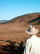 Ranger looking over the Gawler Ranges National Park, South Australia, Australia
