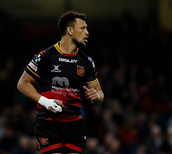 Dragons' Zane Kirchner<br /> <br /> Photographer Simon King/Replay Images<br /> <br /> Guinness PRO14 Round 21 - Dragons v Scarlets - Saturday 28th April 2018 - Principality Stadium - Cardiff<br /> <br /> World Copyright © Replay Images . All rights reserved. info@replayimages.co.uk - http://replayimages.co.uk