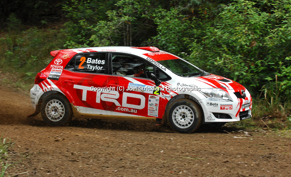 Neal Bates & Coral Taylor.Motorsport-Rally/2008 Coffs Coast Rally.Shakedown, Bucca Rd, .Coffs Harbour, NSW.14th of November 2008.(C) Joel Strickland Photographics