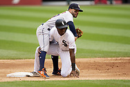 CHICAGO - AUGUST 14:  Jose Altuve #27 of the Houston Astros completes a double play as Tim Anderson #7 of the Chicago White Sox slides into second base on August 14, 2019 at Guaranteed Rate Field in Chicago, Illinois.  (Photo by Ron Vesely/MLB Photos via Getty Images)  *** Local Caption *** Jose Altuve; Tim Anderson