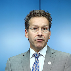 22 June 2015 - Belgium - Brussels - Jeroen Dijsselbloem, president of the Eurogroup during his closing press conference about the Greek financial situation.   © Fotogloria / Scorpix / Patrick Mascart