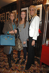 Left to right, SAM PEMBERTON, AMANDA CROSSLEY and LADY LOUISA COMPTON at an exhibition of photographs by Olivia Buckingham held at China Tang, The Dorchester, Park Lane London on 5th March 2007.<br /><br />NON EXCLUSIVE - WORLD RIGHTS