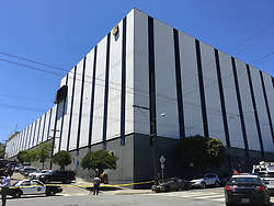 SAN FRANCISCO, June 14, 2017  Photo taken on June 14, 2017 shows a UPS facility where shootings occurred in San Francisco, the United States. Six people were shot Wednesday morning at a UPS facility in San Francisco and four were killed, including the shooter. (Credit Image: © Ma Dan/Xinhua via ZUMA Wire)