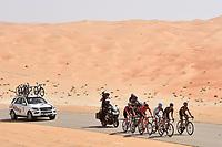 VOSS Paul (GER), JIM Songezo (RSA), GUARDINI Andrea (ITA), CLARKE William (AUS), MANCEBO PEREZ Francisco (ESP), BAZZANA Alessandro (ITA), THOMPSON Michael (GBR) during the 1th Abu Dhabi Tour 2015, Stage 1, Qasr Al Sarab - Madinat Zayed (174Km) on October 8, 2015 in Abu Dhabi. Photo Tim De Waele / DPPI