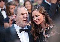 Harvey Weinstein and Georgina Chapman at the gala screening for the film The Little Prince – Le Petit Prince at the 68th Cannes Film Festival, Friday 22nd May 2015, Cannes, France.