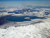 Aerial View of Mono Lake from 36,000 feet and 27 miles during a commercial flight from San Francisco to Newark. Image acquired with a Leica V-Lux 20  (ISO 80, 9.7 mm, f/6.3, 1/800 sec). Processed: Capture One 6 Pro (raw conversion, haze reduction), Photoshop CS5, Focus Magic (sharpening), Nik Define 2 (noise reduction), Photoshop CS5 (save for web).