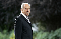 Israeli President Shimon Peres waits for French President Nicolas Sarkozy and first lady Carla at his residence in Jerusalem, Israel on June 22, 2008, on the first day of Sarkozy's three-day state visit to Israel and the Palestinian Territories. Photo by Alain Benainous/Pool/ABACAPRESS.COM