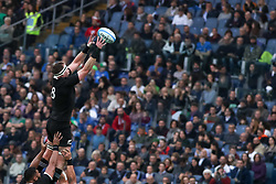 November 24, 2018 - Rome, Rome, Italy - Kieran Read during the Test Match 2018 between Italy and New Zealand at Stadio Olimpico on November 24, 2018 in Rome, Italy. (Credit Image: © Emmanuele Ciancaglini/NurPhoto via ZUMA Press)