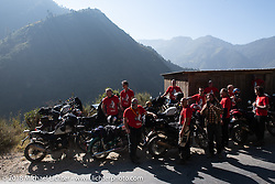 Our group on one of the first stops of the trip, Day-1 of our Himalayan Heroes adventure riding from Kathmandu to Daman, Nepal. Tuesday, November 6, 2018. Photography ©2018 Michael Lichter.