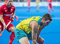 BHUBANESWAR, INDIA - Blake Govers (Aus)  , England v Australia for the bronze medal during the Odisha World Cup Hockey for men  in the Kalinga Stadion.   COPYRIGHT KOEN SUYK